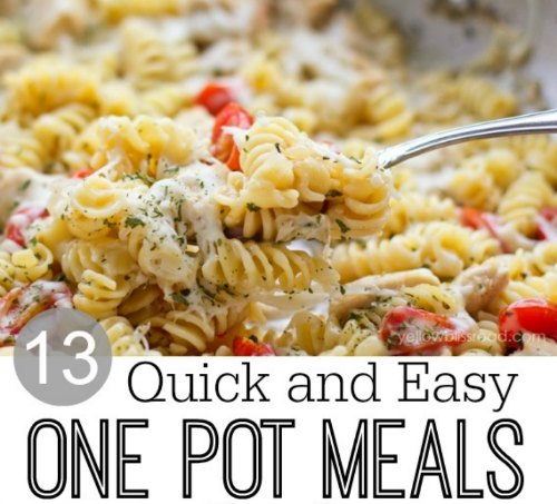 13 Quick Easy One Pot Meals