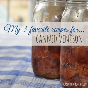 Crockpot Recipes For Canned Venison