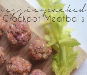 Veggie Packed Make-Ahead Crockpot Meatballs