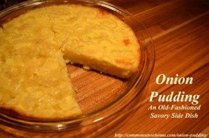 How To Make Onion Pudding