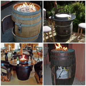 DIY Wine Barrel Fire Pit Table