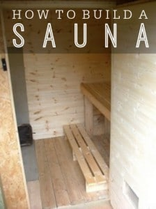 How To Build A Sauna On A Budget