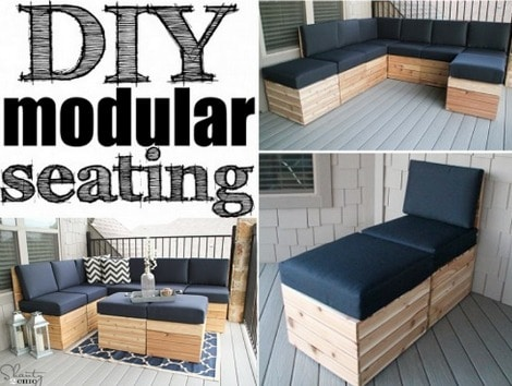Diy Modular Sofa For The Patio Free Plans Homestead