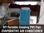 DIY Portable Camping PVC Pipe Evaporative Air Conditioner