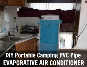 DIY Portable Camping PVC Pipe Evaporative Air Conditioner