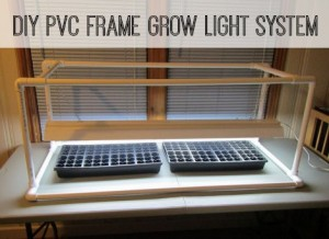 DIY PVC Frame Grow Light System