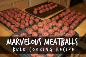 Marvelous Meatballs Bulk Cooking Recipe
