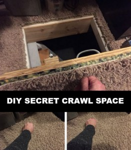Secret Crawl Space Access Door