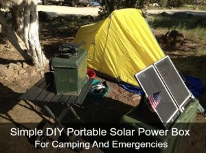 Simple DIY Portable Solar Power Box For Camping And Emergencies