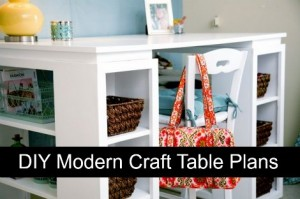DIY Modern Craft Table Plans