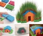 DIY Little Grass House {Kid's Project}