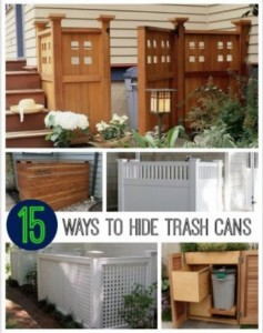 15 Best Looking Ways To Hide Trash Cans
