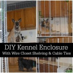 DIY Kennel Enclosure With Wire Closet Shelving And Cable Ties