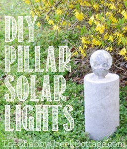 DIY Pillar Solar Lights
