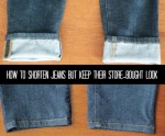 How To Shorten Jeans But Keep Their Store-Bought Look