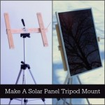 Make A Solar Panel Tripod Mount