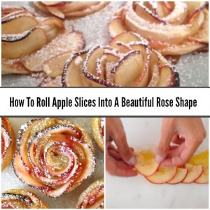 How To Roll Apple Slices Into A Beautiful Rose Shape
