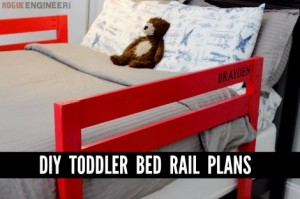 DIY Toddler Bed Rail Plans