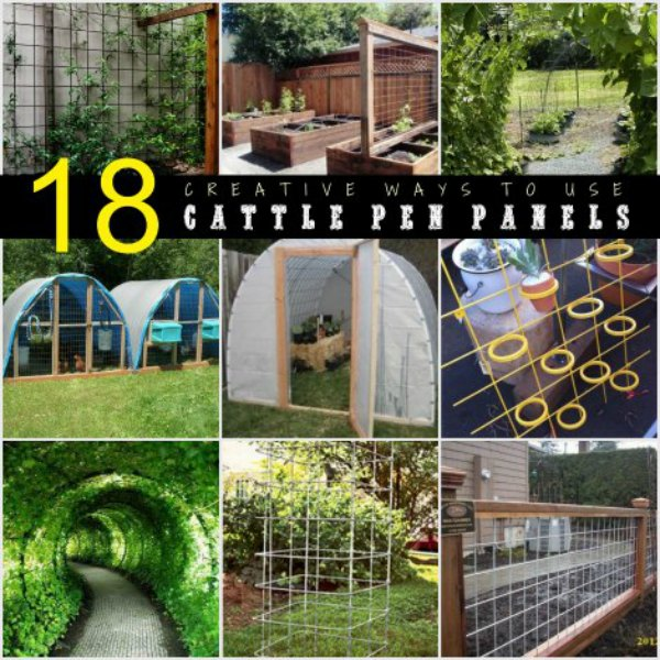 Cheap Ways To Do Your Garden: 18 Creative Ways To Use Cattle Pen Panels
