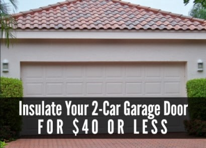 Garage Door Insulation For $40 Or Less