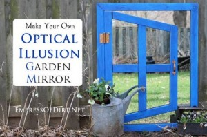 How To Make An Optical Illusion Garden Mirror