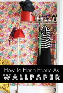 hang-fabric-as-wallpaper