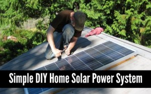 Simple DIY Home Solar Power System