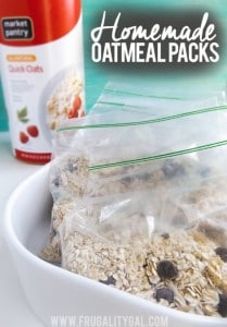 Homemade Oatmeal Packets Recipe
