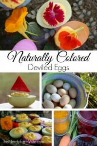 Natural Colored Deviled Eggs Recipe