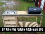 DIY All-In-One Portable Kitchen And BBQ