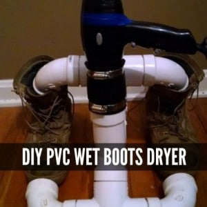 DIY PVC Wet Boots Dryer