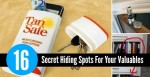16 Secret Hiding Spots For Your Valuables