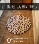 DIY Braided Rug From Towels
