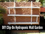 DIY Clip-On Hydroponic Wall Garden