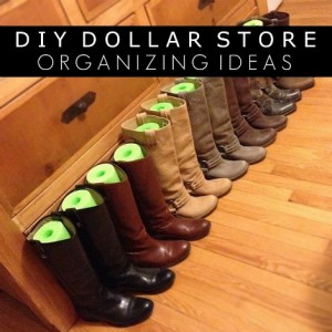 DIY Dollar Store Organizing Ideas