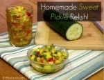 Homemade Sweet Pickle Relish Recipe