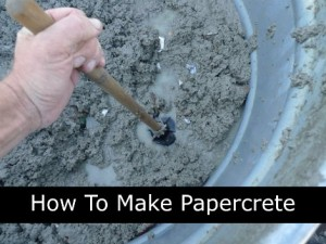 How To Make Papercrete