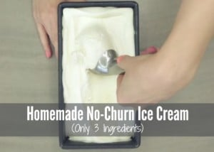 Homemade No-Churn Ice Cream (Only 3 Ingredients)