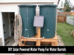 DIY Solar Powered Water Pump For Water Barrels
