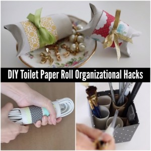 DIY Toilet Paper Roll Organizational Hacks