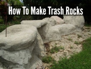 How To Make Trash Rocks