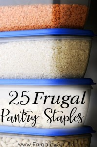 25 Frugal Kitchen Staples