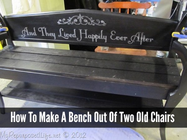 How To Make A Bench Out Of Two Chairs