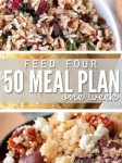 $50 One Week Meal Plan For A Family Of Four