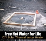 Free Hot Water For Life: DIY Solar Thermal Water Heater