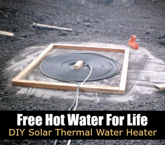 Free Hot Water For Life Diy Solar Thermal Water Heater