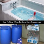 How To Store Water For Long-Term Emergencies