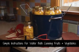 Simple Instructions For Water Bath Canning Fruits And Vegetables