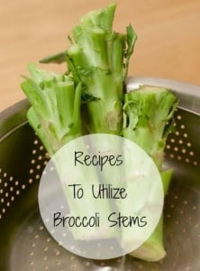 Recipe Ideas To Utilize Your Broccoli Stems