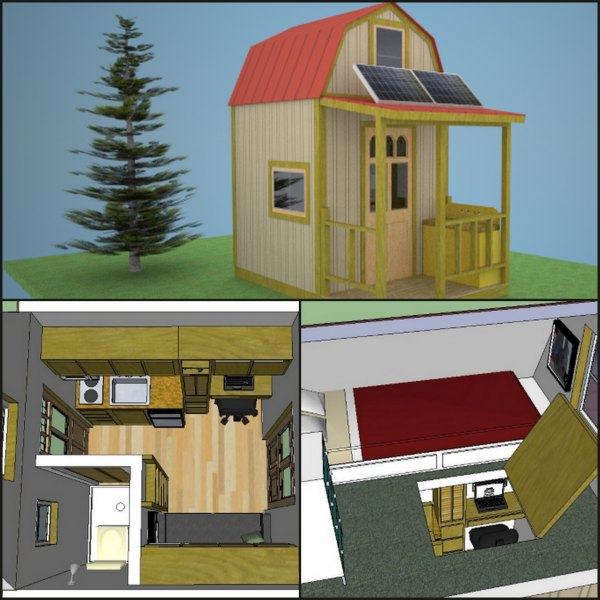 Tiny Home Designs: Build An Off-Grid Stealth Cabin That's 8x8
